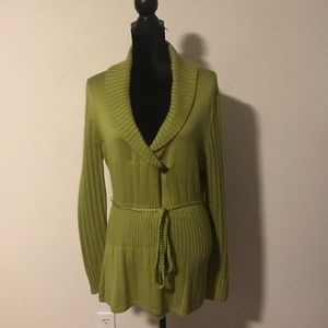 Versailles Green Belted Sweater